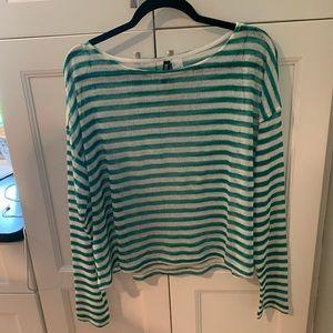 Sheer striped light sweater